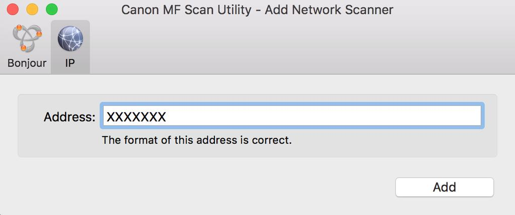 Installing the Driver 5 6 Start the MF Scan Utility. Check that the registered scanner name is displayed in the main dialog box of [Canon MF Scan Utility].