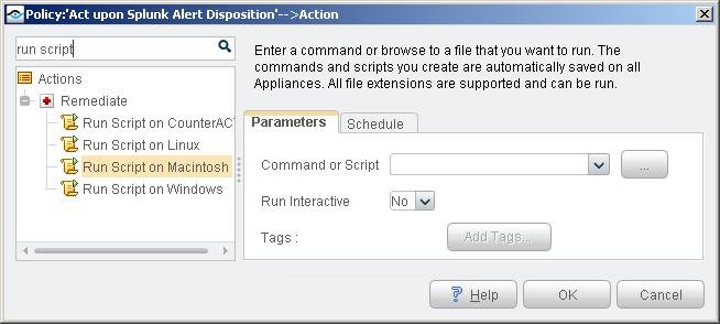 Automatically delete files. Create customized scripts to perform any action that you want. To use these actions: 1. Specify a command or script to run on endpoints.