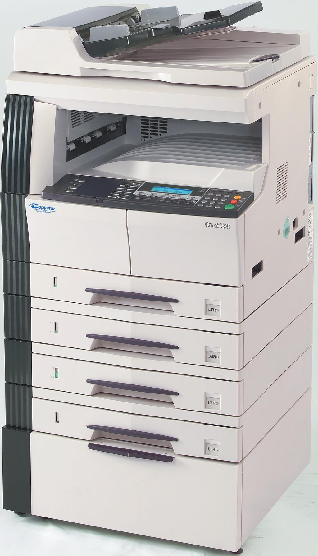Fast Output of 20 pages or 16 pages per minute Standard Network Print The CS-2050 and the CS-1650 offer powerful, flexible imaging Optional Network Scanning and Fax capabilities, designed