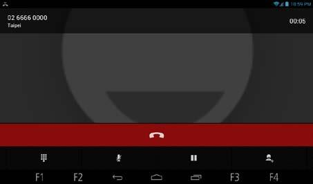 Ending a Call To end a call, touch the red bar at the bottom of the screen.
