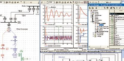 The comprehensive model library in PowerFactory provides users with the ability to use ready-made objects for single and three-phase loads, consumption energy profiles, generators and converters, PV