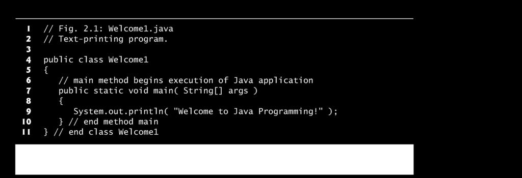 Your first Java program.. 12 // indicates a comment.