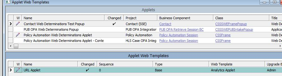 copied from an existing applet Policy Automation Web
