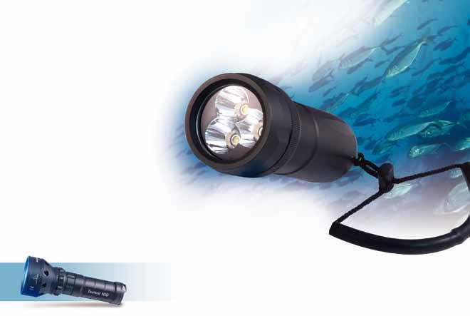 500 Lumen ultra bright rechargeable diving flashlight 3-piece Cree Xre LED High intensity incandescence Provides 500 lumen of light 10W HID rechargeable torch Digital information display system 1 and