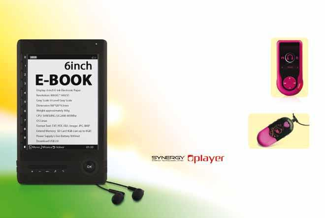 E-book reader 6 E-ink technology display Samsung S3C2440 400 Mhz CPU 64MB SD RAM Increase your sales revenue with our one-stop OEM/ODM services Are you looking for electronics that will increase your