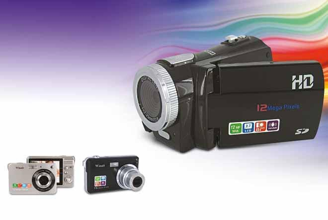 "720p HD digital camcorder (DV-D40) 2.7"" TFT LCD 8x digital zoom 12MP resolution Supports up to 8GB SD cards Source our wireless headphones 12MP shake-resistant digital cameras (DC-530) 2."