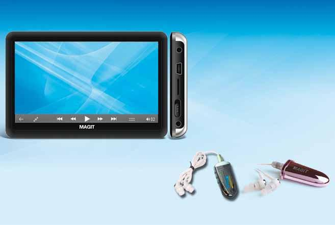 "OEM clients in over 50 countries source from us Portable media player with 4.3"" touch-screen TFT display* * The illustration shown here is a drawing or other representation of the product."