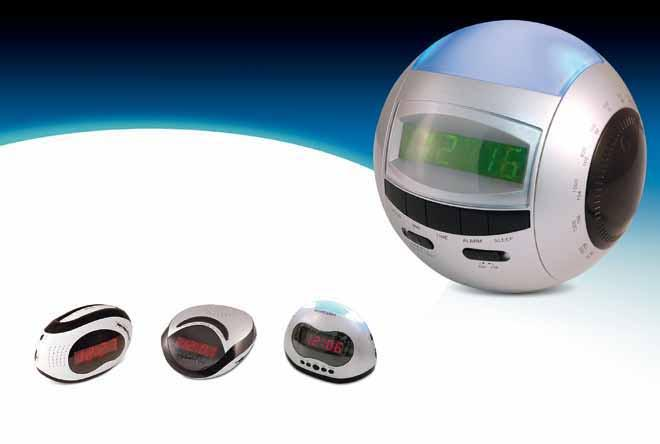 1 Million Premium Radios Each Month RT-262 RT-266 AM/FM LED alarm clock radios with snooze function RT-237 RT-236 Sphere-shaped AM/FM LED alarm clock radio 30,000 cases daily, available in over 10