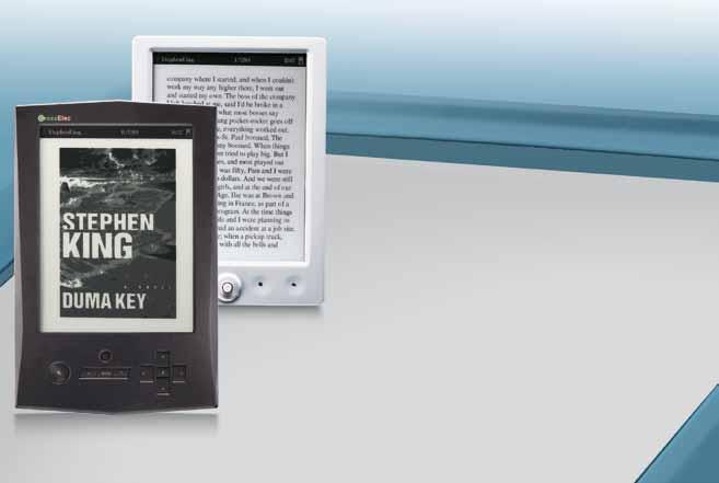 6 e-book reader with 8-level grayscale and SDK All trademarks shown here are for reference purposes only.