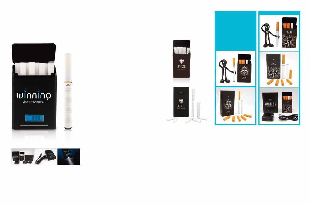 JSB-L88V E-cigarette and Smart PCC (portable charger case) Capacity: 1,250mAh LCD screen Light function Electronic cigarettes sold 10,000 50,000 100,000 Daily cartridge sales 30,000 150,000 300,000