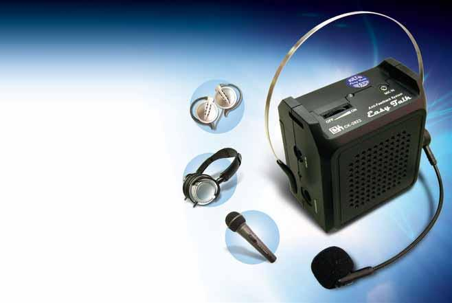 Portable voice amplifiers with anti-feedback systems Phthalate-free and RoHS Directive-compliant To keep your range up to date, we roll out 10 new items each year.