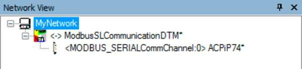 Now double-click on the communication DTM to open up the dialog box.
