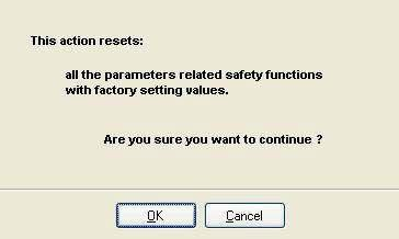"Safety Functions Installation 8.3 Safety reset The ""Reset safety"" function makes it possible to remove the safety function from the device."