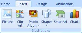 Inserting Images Picture versus Clip Art Picture for images that are on your computer Clip Art for images