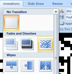 transition to view and apply to the current slide To change a slide s transition to another one,