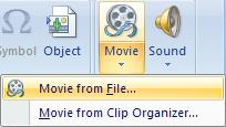 file Click on Sound Select Sound from File Browse to the sound file Click OK to finish