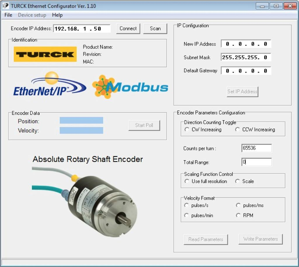Your Global Automation Partner Rm 94 Ethernet Ip Resolver With Turck Sensor Wiring Diagram Use The Net Configurator Utility Continued 12d3 Start