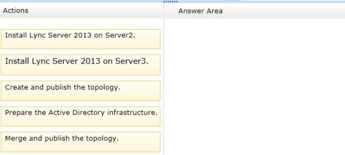 Answer: Note: * You use the Topology Builder Merge wizard to merge topology information.