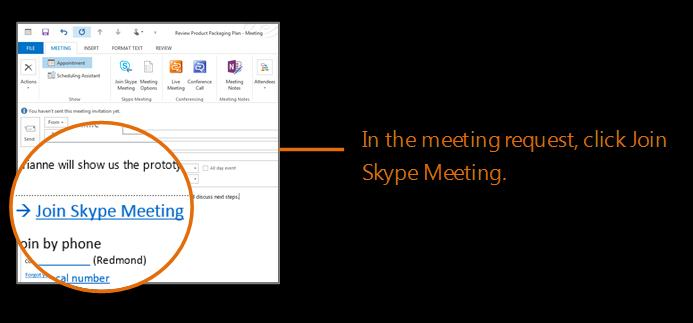 Joining a Skype for Business