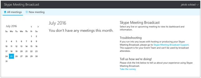 What is Skype Meeting Broadcast?