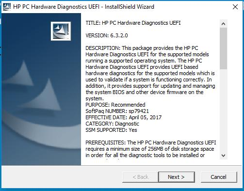 How to run latest version HP PC Hardware Diagnostic UEFI Tool?