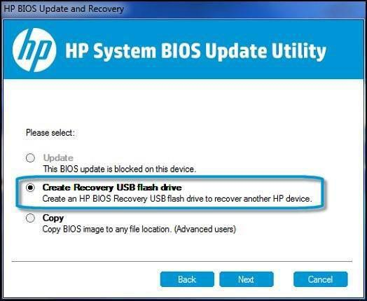 Manual BIOS Crisis Recovery using USB Key / pen drive(in HP_Tools partition) 1.Turn off the computer. 2.Plug the Notebook into a power source using the power adapter. 3.