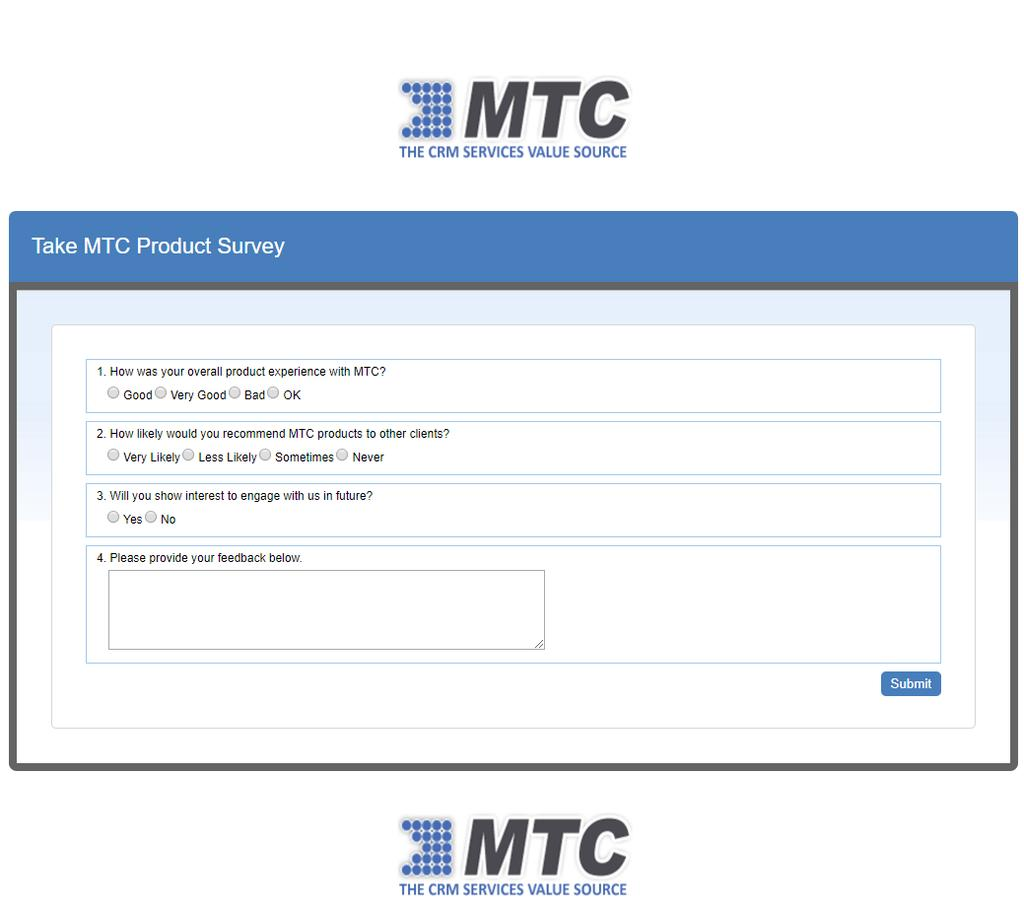 The MTC lg n the header and fter is displayed because while creating the survey frm bth header image and fter image was