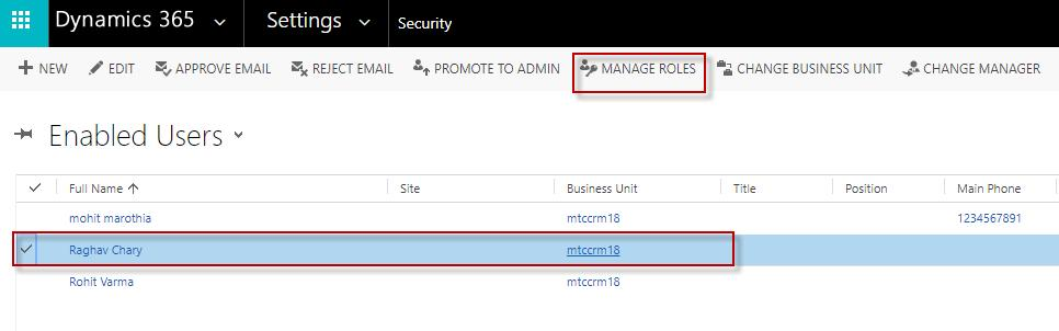 A windw pps up with all the security rles available in yur CRM. 6.
