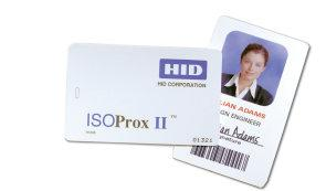 Access Control Cards and Readers HID 125KHz Proximity ISOProx II Features: Combines proximity technology and offers photo identification capability on a single card Graphics quality surface for use
