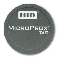 Microprox Access Control Cards and Readers HID 125KHz Proximity Features: The size of a coin, the Tag easily attaches to all non-metallic materials The Tag can be programmed in any HID proximity