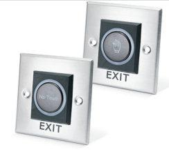Access Control Door Accessories Egress Devices Touch Free Exit Buttons Features: Brushed Stainless Steel Infra-Red Adjustable timer Flush and surface mount Adjustable range Change-over-contacts