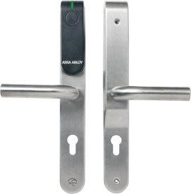 E100 Euro Profile Escutcheon Aperio Aperio Wireless Locking Range Features: Supports multiple RFID credentials and Seos mobile access Heartbeat communication: 5-10 seconds Remote door opening/locking