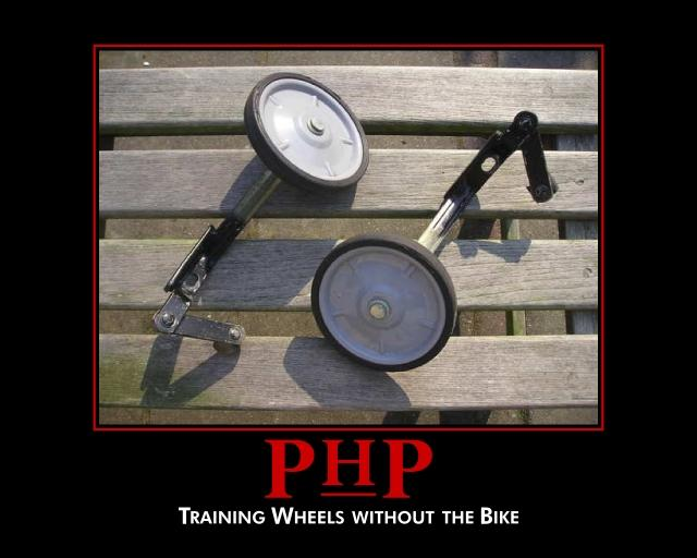 Bad uniformity example (PHP): Same things look different