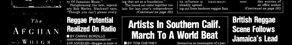 March To A World Brat BY TOM CHEYNEY LOS ANGELES -Those seeking the next wave of alternative music to part the