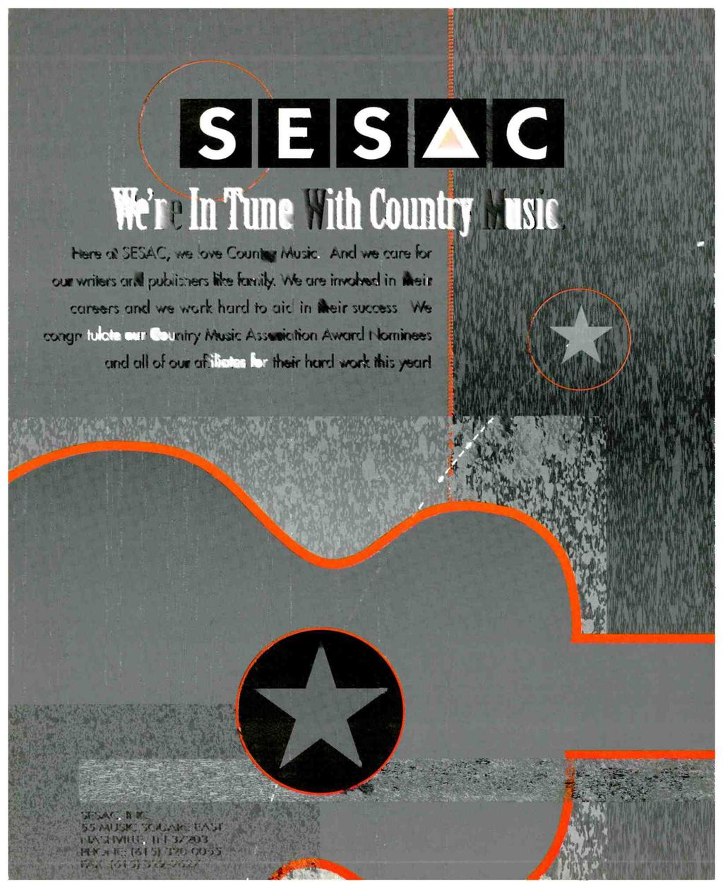 s O C Here at SESAC, we love Country Music.