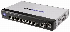 CISCO SRW208MP-EU SWITCH 8 x 10/100 PoE + 2 10/100/1000 mini-gbic porttia, WebView/ Max PoE Specifications Ports 8 RJ-45 connectors for 10BASE-T and 100BASE-TX, 2 RJ-45 connectors for