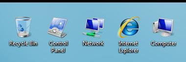 Working with desktop icons Icons are small pictures that represent files, folders, programs, and other items.