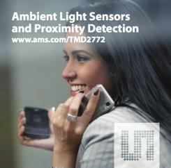 PROXIMITY Ambient Light Sensor and Proximity Detection TMD2772 is a digital ambient light sensor, proximity sensor with Infra-Red LED in an optical module Product Overview The TMD2772 family of