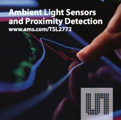 PROXIMITY Ambient Light Sensor and Proximity Detection TSL2772 is a Light-to-Digital converter and proximity sensor Product Overview The TSL2772 family of devices provides both ambient light sensing