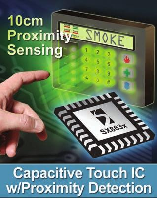 PROXIMITY Capacitive Touch Sensors with Enhanced LED Drivers and Proximity Sensing Product Overview The superior sensitivity of the SX863x/4x touch sensor platform enables sensing through a thick