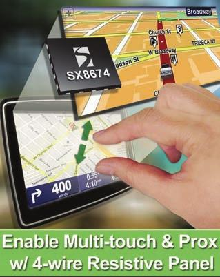 PROXIMITY Multi-touch Resistive Touchscreen Controller with Proximity Sensing and Haptic Feedback PROXIMITY Product Overview These fully integrated, haptic enabled resistive touchscreen controllers