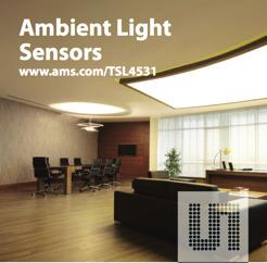 LIGHT & OPTICAL Ambient Light Sensor TSL4531 is a digital ambient sensor with direct lux output capability LIGHT & OPTICAL 56 Product Overview The TSL4531 family of devices provides ambient light