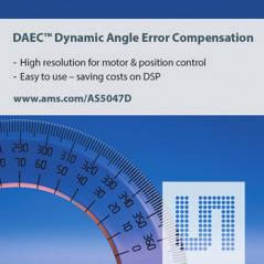 POSITION / SPEED Dynamic Angle Error Compensation DAEC TM AS5047D is a 14-bit On-Axis Magnetic Rotary Position Sensor with 11-bit Decimal & Binary Incremental Pulse Count.