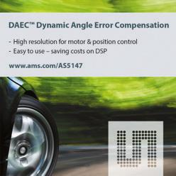 POSITION / SPEED Dynamic Angle Error Compensation DAEC TM AS5147 is an automotive qualified 14-bit On-Axis Magnetic Rotary Position Sensor with 11-bit Binary Incremental Pulse Count.