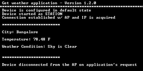 The application opens a TCP socket w/ the server and sends a HTTP Get request to get the weather details.