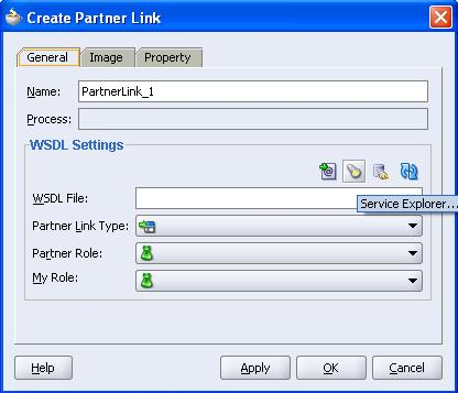 Create partner link window shows up. Leave the value for the Name field as default.