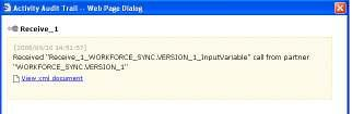That will open the Dialog Box for the Receive_1. Click the link for the View xml document in the Dialog page.