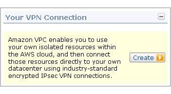 Implementing the Scenario Task 3: Set Up the VPN Connection If you don't use the wizard in the console, you can manually set up the VPN connection yourself. This section shows you how.