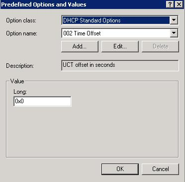 4. The Predefined Options and Values screen is displayed. Click Add... 5.