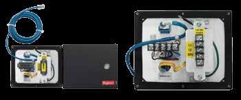 INTERSAFE DATA INTERFACE PORTS FOR DH+, MODBUS PLUS, ETHERNET PROTOCOL Left-hand image shows front view, GFCI Receptacle Models. Righthand image shows front view, Duplex Receptacle Models.